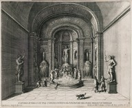 """Fountain of Bacchus in a room adjacent to the fountains on the fountain level"" (Plate 8)"