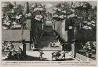"""View from the fountain of the steps [Stairs of the bubbling fountains], and the stairs that lead up to the Alley of the hundred fountains"" (Plate 12)"