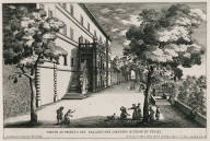 """View in profile of the palazzo in the extensive gardens in Tivoli"" (Plate 5)"