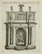 """Fountain [Fountain of the owl] near the Fountain of ancient Rome [Rometta] in the garden at Tivoli"" (Fig. 17)"