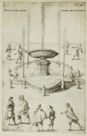 """Fountain in Rome in the great courtyard [Cortile Belvedere] in the Vatican"" (Fig. 32)"