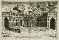 """Large fountain [Ovata fountain] in the garden at Tivoli near the water organ"" (Fig. 43)"