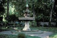 Fountain in woods