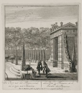 """The fountain gate and the garden parterres"" (Plate 12)"