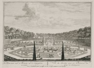 """View of the garden with parterres near the orangerie"" (Plate 21)"