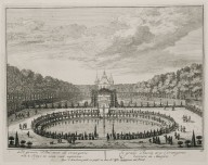 """The great basin with the orangerie behind the house"" (Plate 22)"