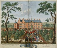 """Arrival of his highness William III of England in Dieren"""