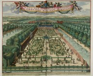 """One of the most beautiful views of the parterre of the park of Sorgvliet [Zorgvliet]"""