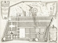 """Plan of the garden of Villa Doria-Pamphili of his excellency the Prince Pamphili lying on the Giancolo hill outside of the San Pancratio port "" (Plate 21)"