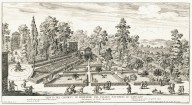 """""""View of the Belvedere garden of the Papal palace at the Vatican. Architecture by Carlo Maderno"""" (Plate 3)"""