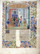 Le livre des prouffis champestres et ruraux, Dedication page showing the translator presenting the book to Charles V (folio 2)