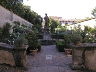Enclosed herb garden to the east