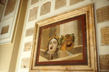 Mosaic of Tragic and Comic Mask