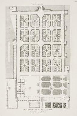 """General plan of the Villa Medici"" (Plate 8)"