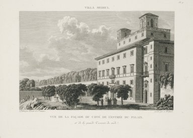 """""""View of the facade from the entrance side of the palace"""" (Plate 9)"""