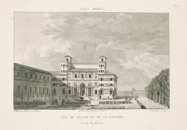 """View of the palace and the gallery from the garden side"" (Plate 10)"