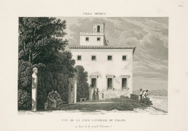 """View of the lateral side of the palace from the end of the great terrace"" (Plate 12)"