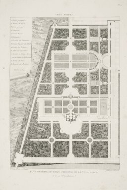 """""""General plan of the main casino of the Villa Pamphili and its dependencies"""" (Plate 14)"""