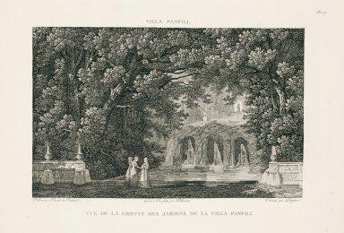 """""""View of the grotto of the gardens of the Villa Pamphili"""" (Plate 17)"""