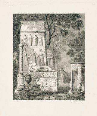 """""""Villa Borghese in Rome"""" (Plate 20)"""
