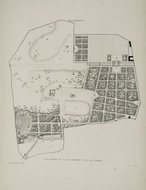 """""""General plan of the Villa Borghese and its gardens"""" (Plate 21)"""