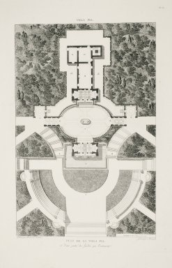 """Plan of the Villa Pia and the adjacent gardens"" (Plate 36)"