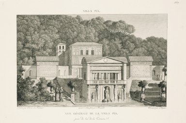 """General view of the Villa Pia captured from below the terrace"" (Plate 37)"
