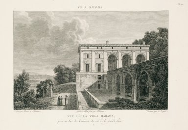 """View of the Villa Madama captured from below the terraces on the side of the great loggia"" (Plate 41)"