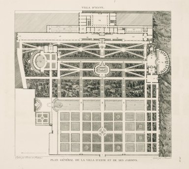 """""""General plan of the Villa d'Este and its gardens"""" (Plate 58)"""