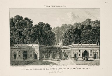"""View of the terrace and the great cascade and the water theater facing the palace"" (Plate 66)"