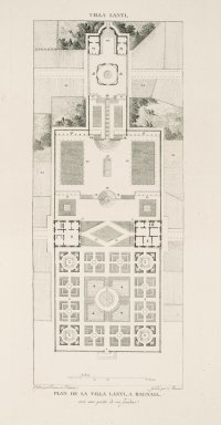 """""""Plan of the Villa Lante at Bagnaia with one part of its gardens"""" (Plate 67)"""