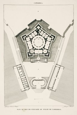 """Plan of the ground floor of the palace at Caprarola"" (Plate 70)"