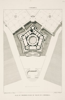 """Plan of the first floor of the palace at Caprarola"" (Plate 71)"