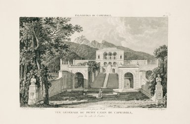"""General view of the small casino at Caprarola, captured from the entrance side"" (Plate 74)"