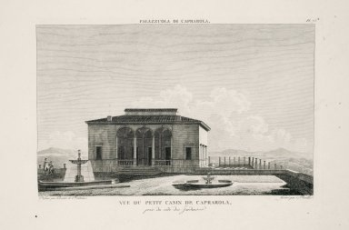 """View of the small casino at Caprarola, captured from the garden side"" (Plate 75)"
