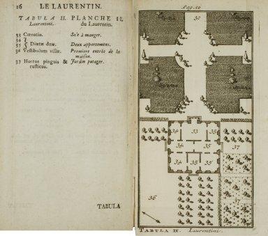 [Plan of the Laurentian Villa] (Plate II)