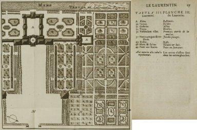 [Plan of the Laurentian Villa] (Plate III)
