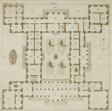 [Plan of the Tuscan Villa] (Plate I)
