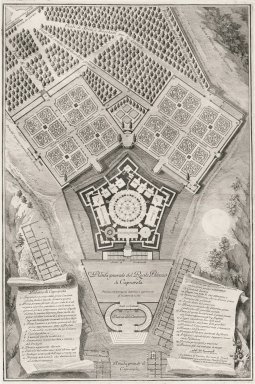 """General plan of the royal palace of Caprarola"""