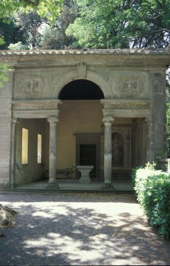 Loggia of the muses, right
