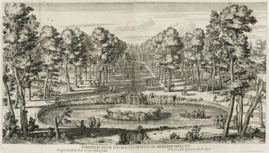 """""""Fifth view of the Villa Doria Pamphili directly down the middle"""""""