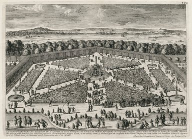 """The great parterre of the Trianon of Saint-Cloud"" (Plate 70)"