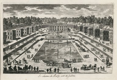 """The Chateau of Marly from the gardens"" (Plate126)"