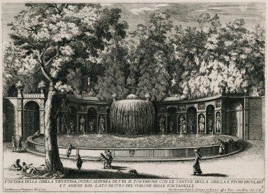 """""""Fountain of the Tiburtine Sibyl... """" (Plate 7)"""