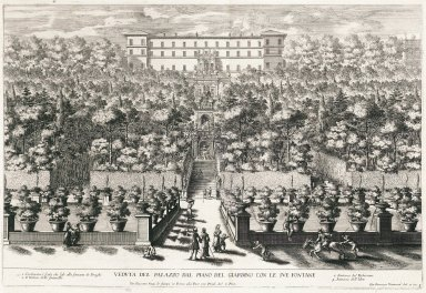 """View of the palace from the Lower garden with its fountains"" (Plate 3)"