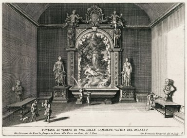 """""""Fountain of Venus in one of the last rooms of the palace"""" (Plate 6)"""