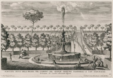 """""""Fountain of the queen in the garden of the Pamphili prince"""" (Fig. 21)"""