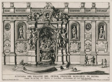"""Fountain in the palace of the Borghese prince in Rome"" (Fig. 11)"