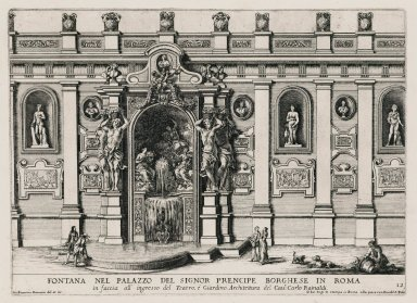 """Fountain in the palace of the Borghese prince in Rome"" (Fig. 12)"