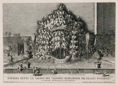 """Fountain called the galley in the garden of the Papal palace in the Vatican"" (Fig. 5)"